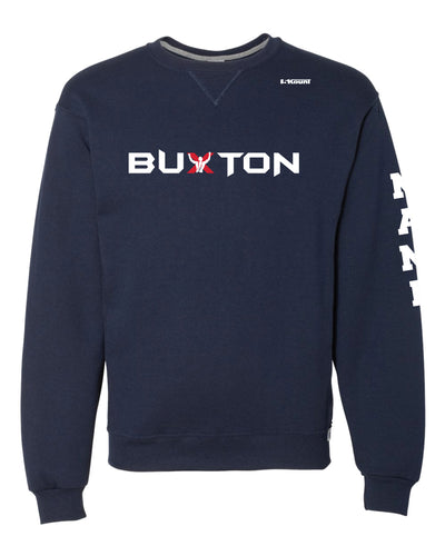 Buxton Russell Athletic Cotton Crewneck Sweatshirt - Navy - 5KounT2018