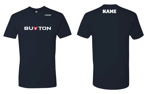 Buxton Cotton Crew Tee - Navy - 5KounT2018