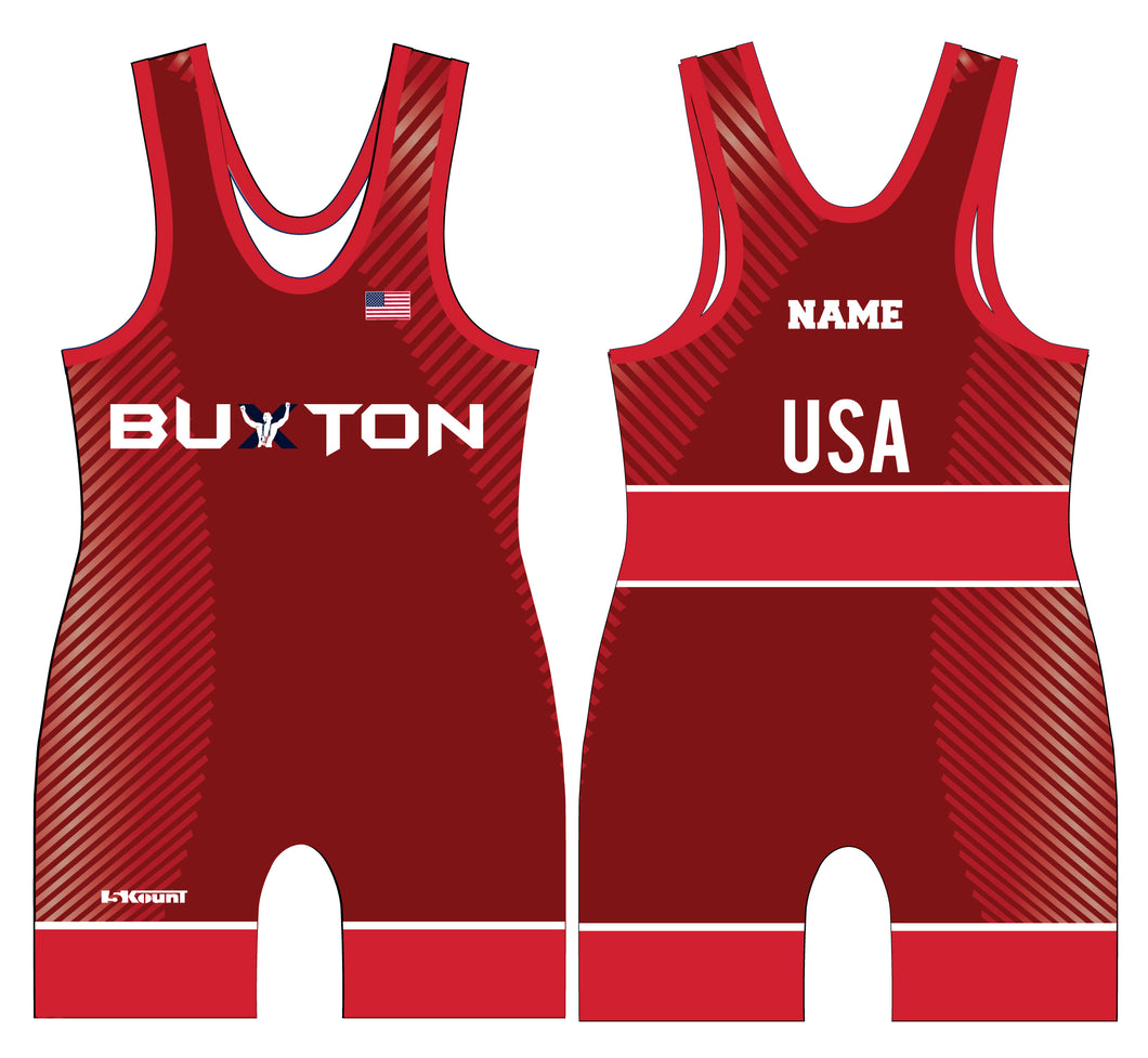 Buxton Freestyle Singlet - Red - 5KounT2018