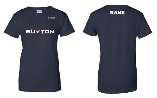 Buxton Cotton Ladies' Crew Tee - Navy - 5KounT2018