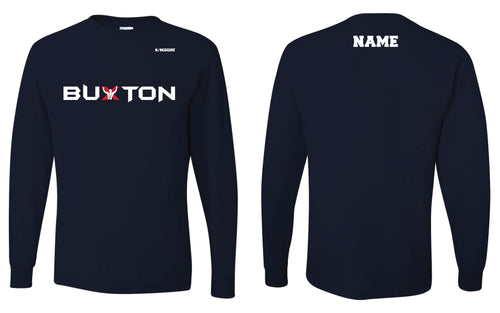 Buxton Performance Long Sleeve Tee - Navy - 5KounT2018