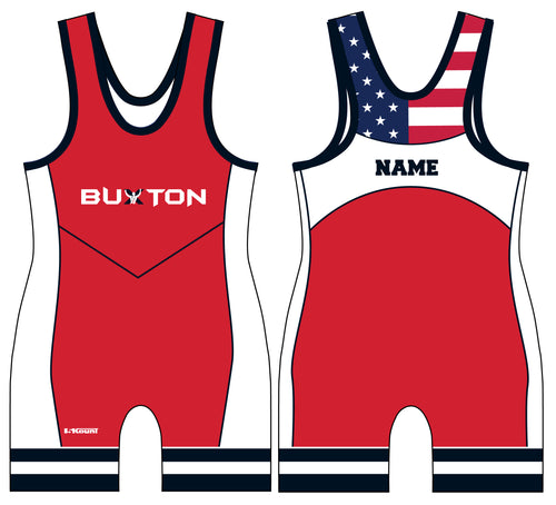 Buxton Sublimated Men's Singlet - Red - 5KounT2018