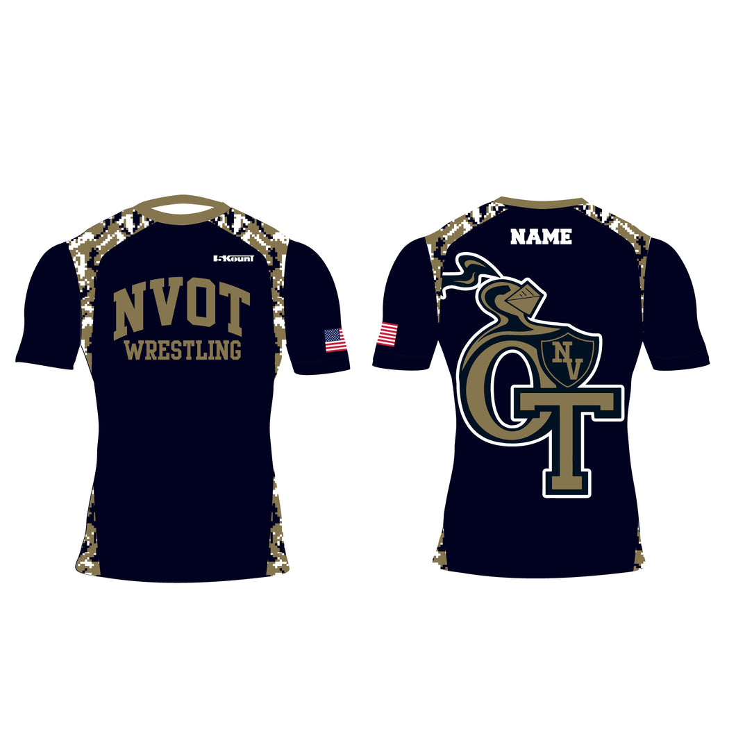 NVOT Wrestling Sublimated Compression Shirt - 5KounT