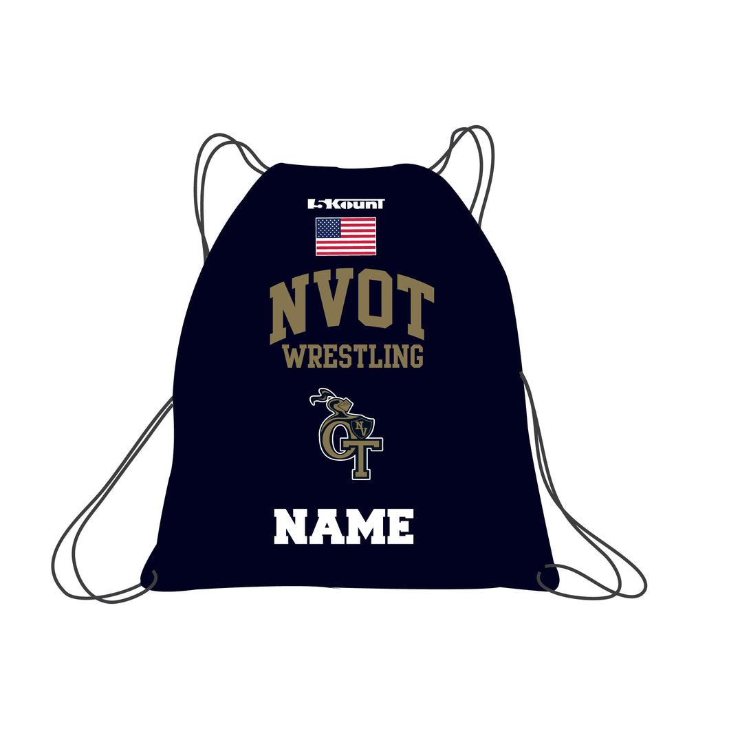NVOT Wrestling Sublimated Drawstring Bag - 5KounT2018