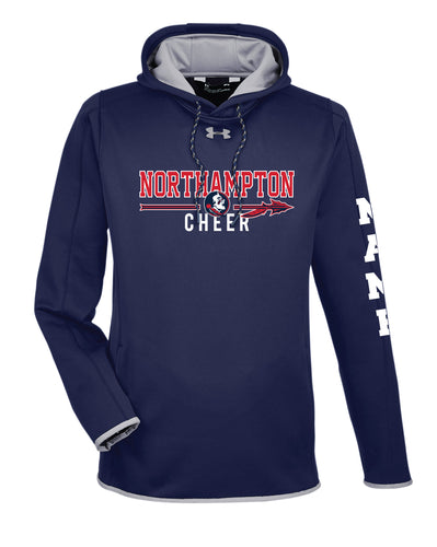 Northampton Indians Cheer Under Armour Ladies' Double Threat Armour Fleece Hoodie - Navy