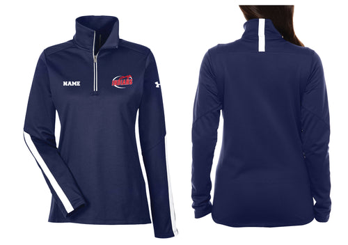 Northampton Indians Cheer Under Armour Ladies' Qualifier 1/4 Zip - Navy