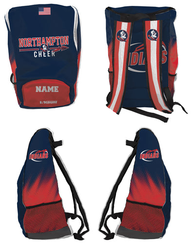 Northampton Indians Cheer Sublimated Backpack