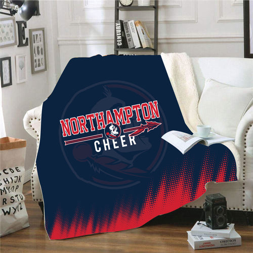 Northampton Indians Cheer Sublimated Blanket
