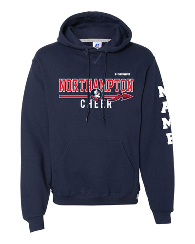 Northampton Indians Cheer Russell Athletic Cotton Hoodie - Navy