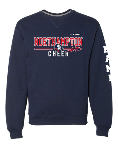 Northampton Indians Cheer Russell Athletic Cotton Crewneck Sweatshirt - Navy