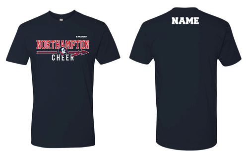 Northampton Indians Cheer Cotton Crew Tee - Navy