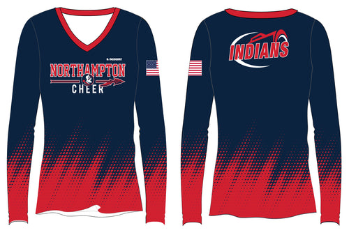 Northampton Indians Cheer  Sublimated Long Sleeve Shirt