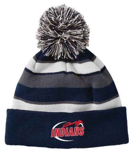 Northampton Indians Cheer Pom Beanie - Navy