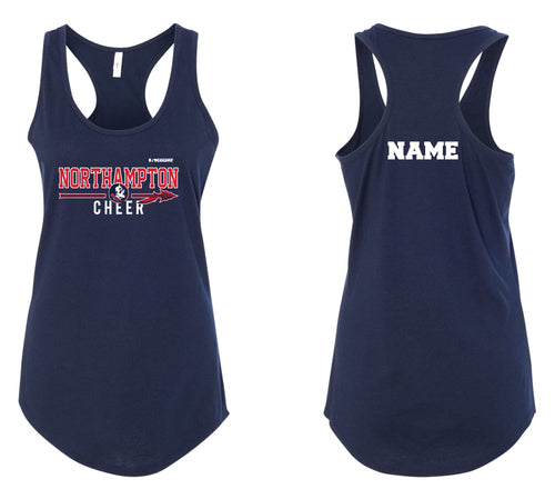 Northampton Indians Cheer Ladies' Cotton Tank Top - Navy