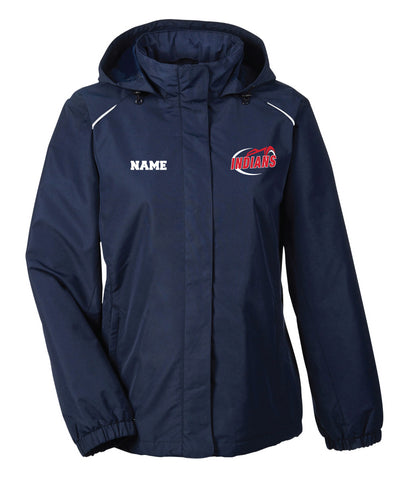 Northampton Indians Cheer All Season Hooded Women's Jacket - Navy