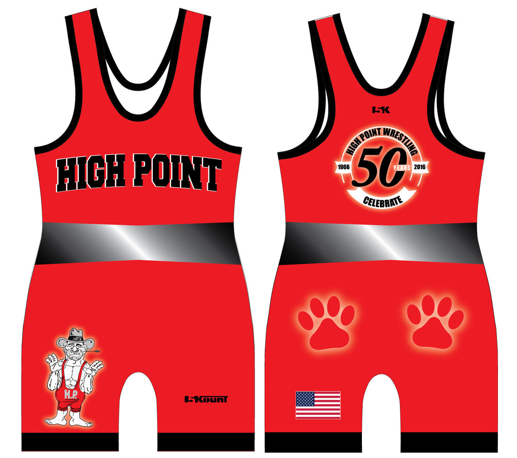 High Point Sublimated Singlet - Red - 5KounT2018