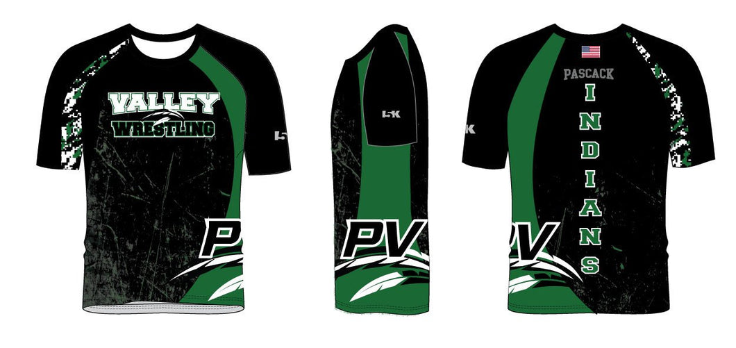 PV Wrestling Sublimated Fight Shirt - Colorblock