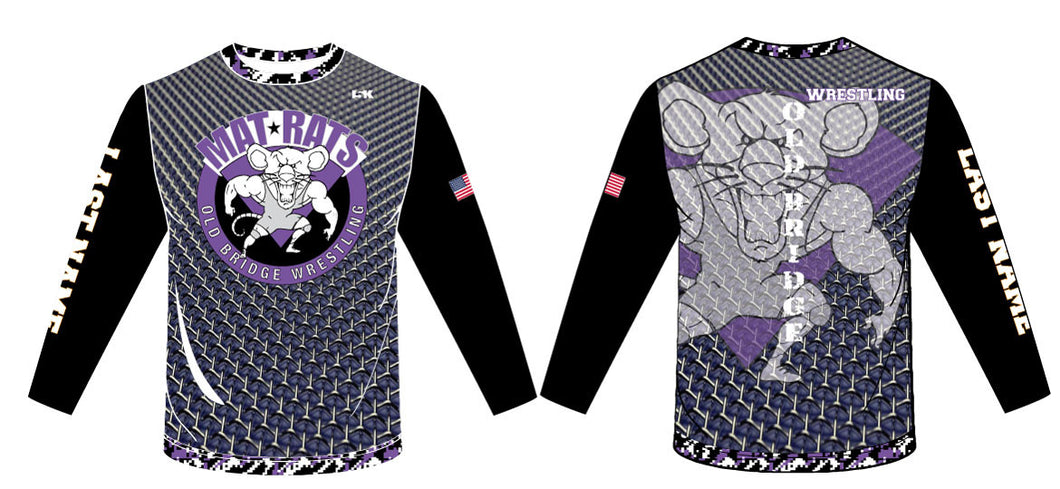 OB Wrestling Sublimated Long Sleeve Shirt