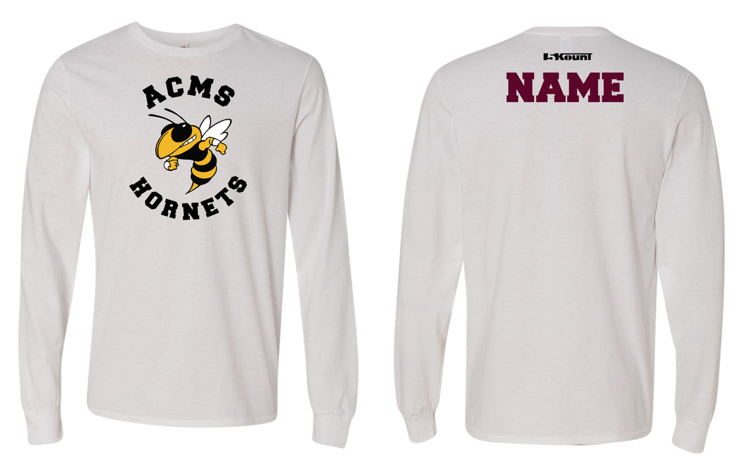 Anne Chesnutt Hornets Cotton Long Sleeve - White (Does Not Meet School Uniform Requirements) - 5KounT2018