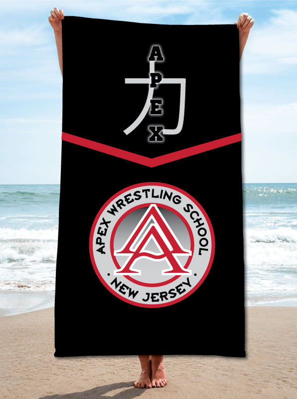 Apex Wrestling Sublimated Beach Towel
