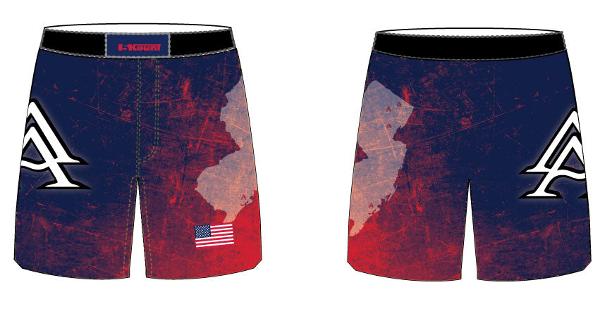 APEX Wrestling School Sublimated Fight Shorts - 5KounT2018