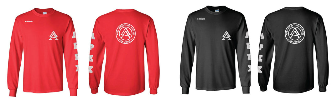 APEX LONG SLEEVE COTTON SHIRT - Red/Black