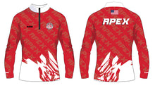 Apex Wrestling Sublimated Red and White Quarter Zip Design 3