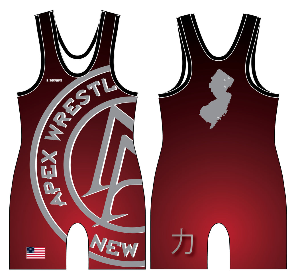 Apex Wrestling Sublimated Men's Singlet Design 1