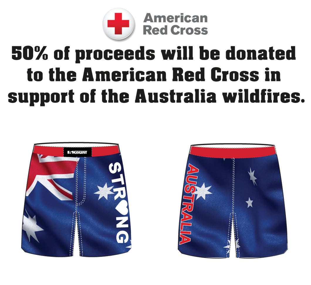 Australia Strong Collection Sublimated Fight Shorts