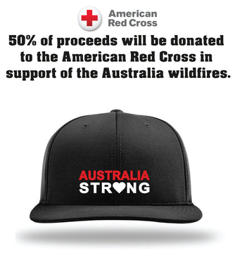 Australia Strong Collection FlexFit Hat - Black