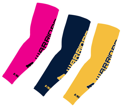 Andover Warriors Football Sublimated Compression Sleeves - Pink/Navy/Gold - 5KounT2018