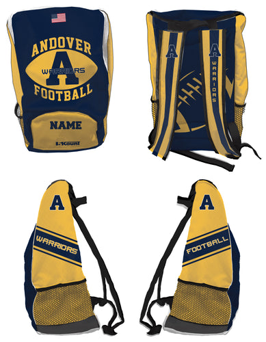 Andover Warriors Football Sublimated Backpack - 5KounT2018