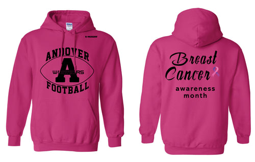 Andover Warriors Football Cotton Hoodie Cancer Awareness - Sport Charity Pink - 5KounT2018