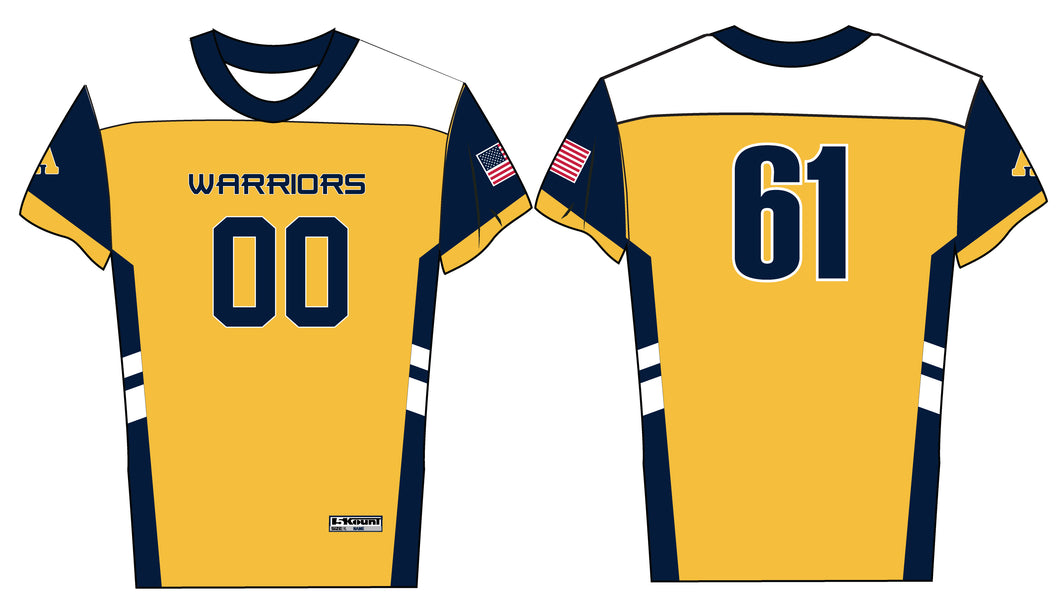 Andover Warriors Flag Football Sublimated Jersey - 5KounT2018