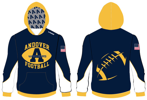 Andover Warriors Football Sublimated Hoodie - 5KounT2018