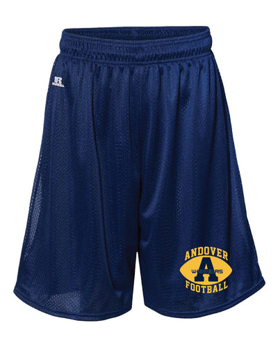 Andover Warriors Football Russell Athletic  Tech Shorts - Navy - 5KounT2018