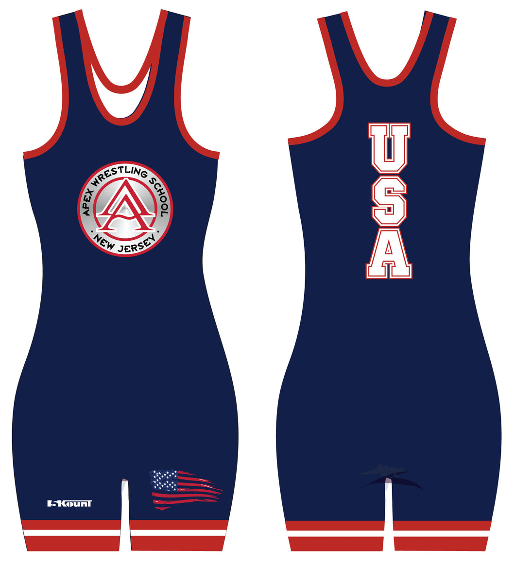 APEX Freestyle - USA Women's Singlet BLUE - 5KounT2018