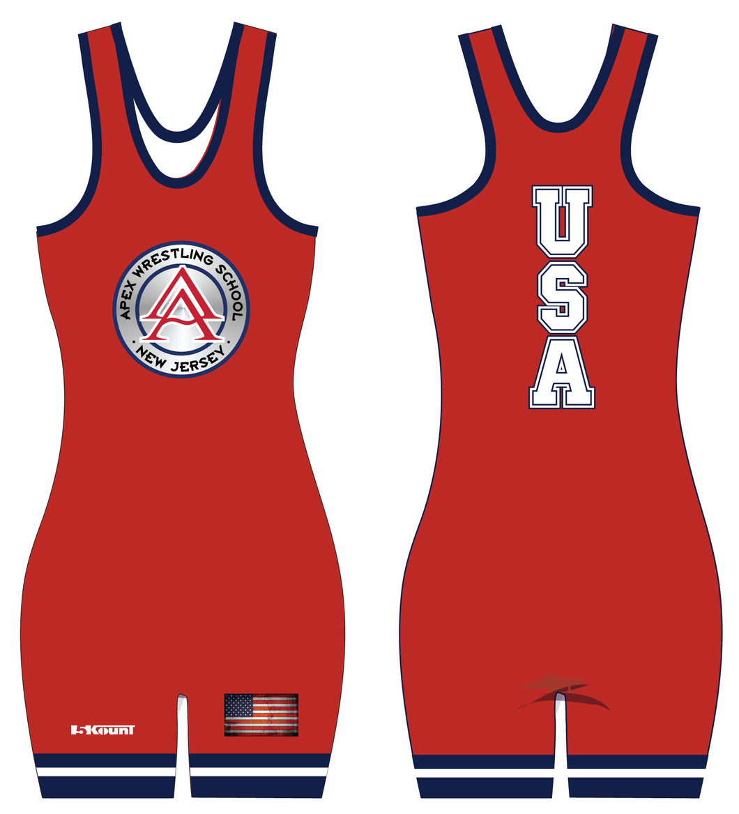 APEX Freestyle - USA Women's Singlet RED - 5KounT2018