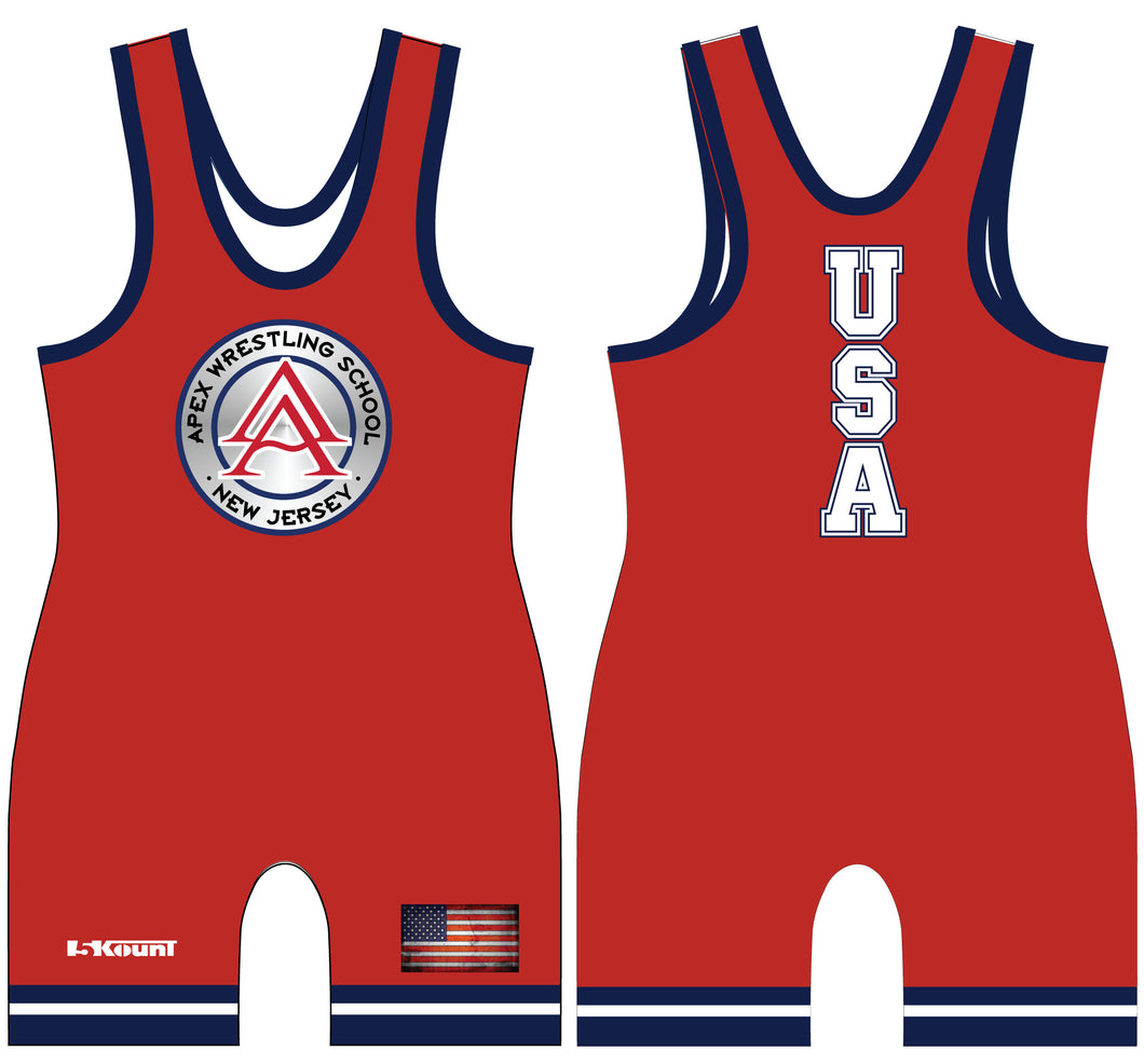 APEX Freestyle - USA Singlet RED