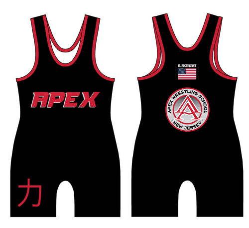 APEX Wrestling Black Singlet