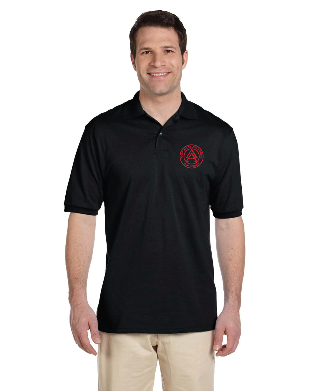 Apex Wrestling Performance Polo - Black/Red/White