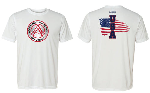 APEX Freestyle - USA DryFit Performance Tee - White