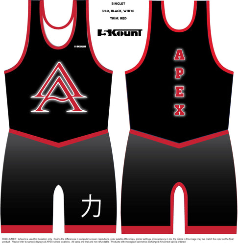 APEX CLUB SINGLET - STRENGTH - BLACK