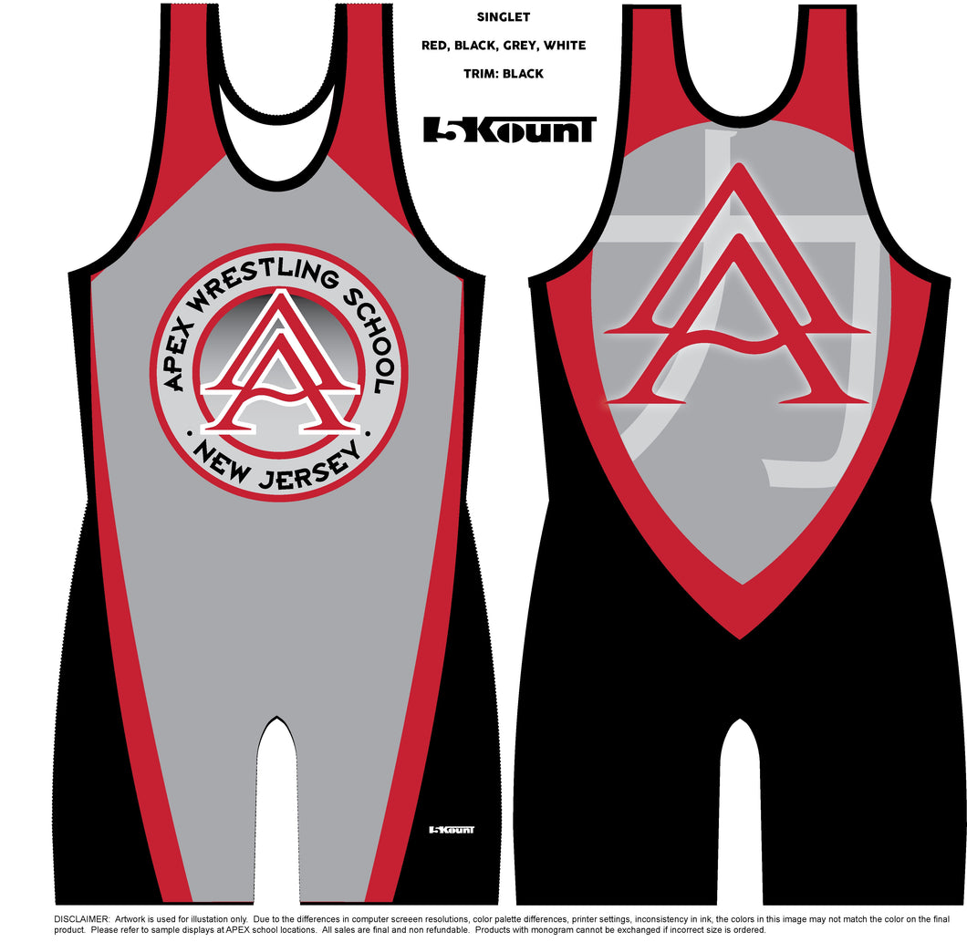 APEX CLUB SINGLET - STRENGTH-GREY