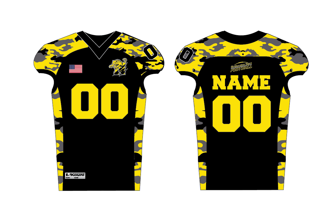 Northwestern Tigers Tackle Football Sublimated Jersey
