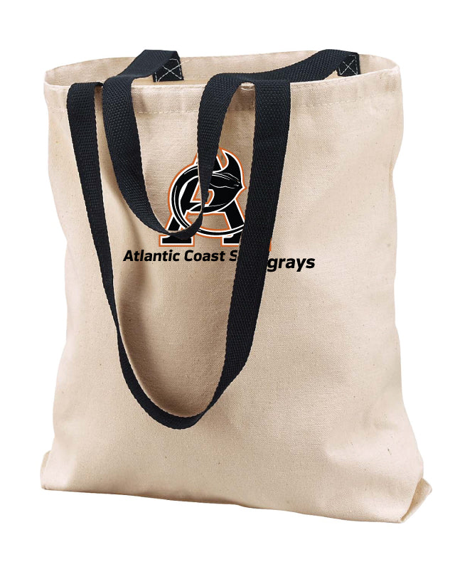 Atlantic Coast Stingrays Canvas Tote - Natural