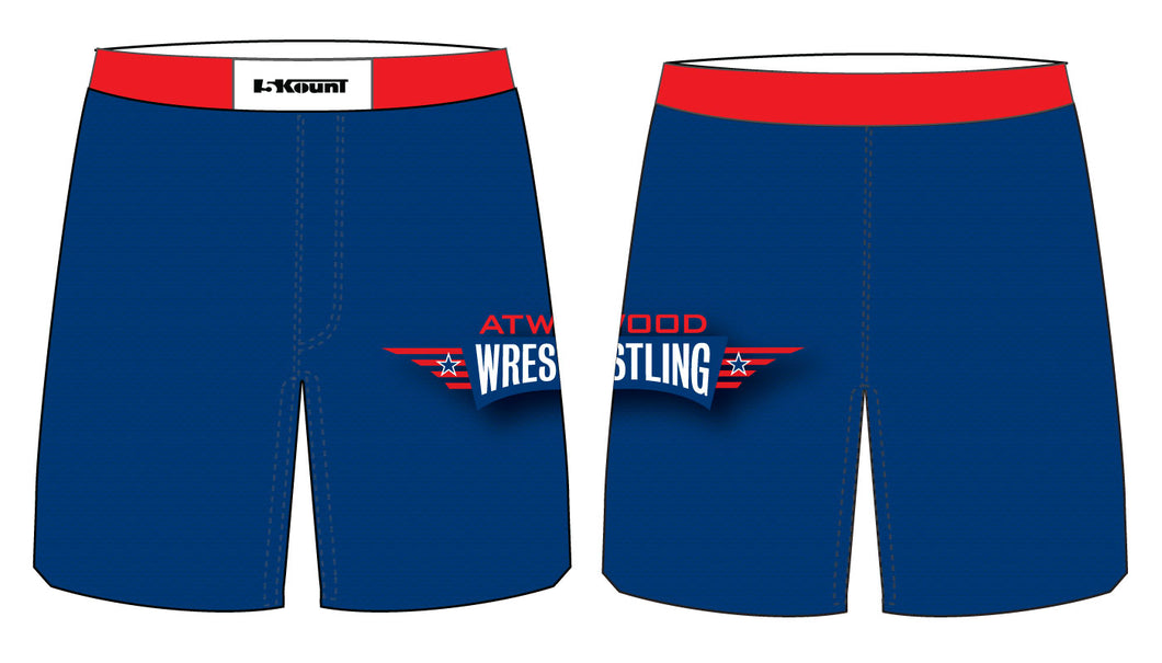 Atwood Sublimated Fight Shorts - Blue - 5KounT2018