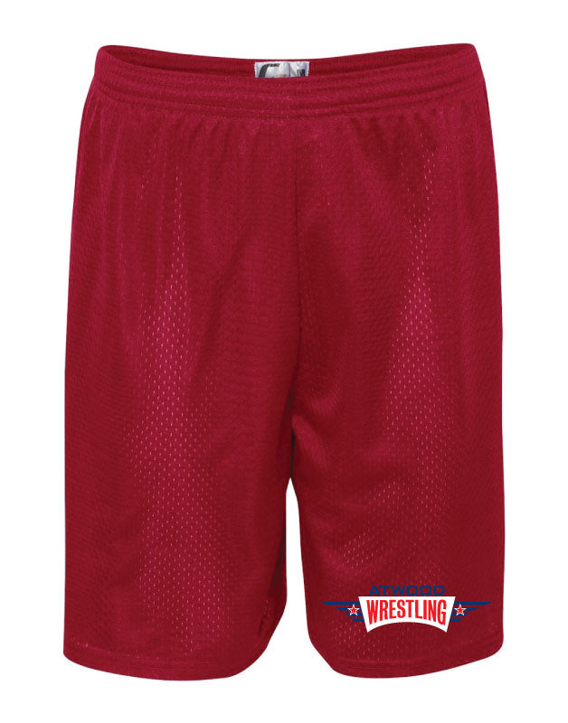 Atwood Tech Shorts - Red/ Silver