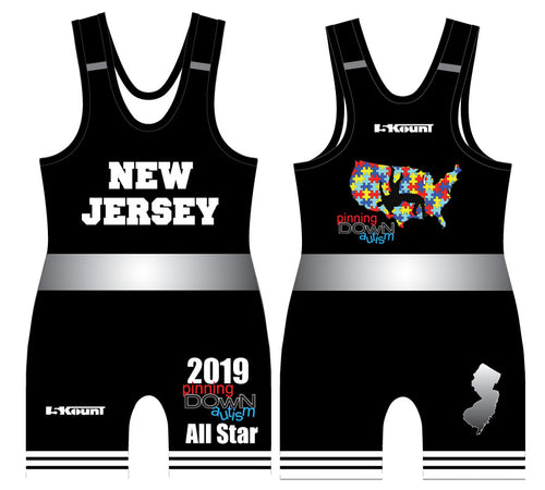 Pinning Down Autism Singlet - All-Star Team New Jersey [REQUIRED UNIFORM] - 5KounT2018