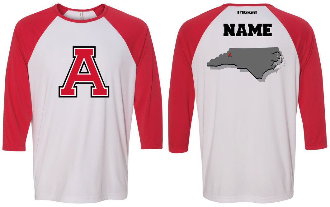 Avery HS Athletics Baseball Shirt - Red/White
